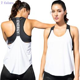 Chaleco de los deportes atractivos de las mujeres Yoga de la aptitud que corre la palabra de T Back Hollow Sling Seque rápidamente el chaleco flojo sin mangas femenino de la venta al por mayor desde fabricantes