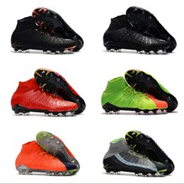 Wholesale Soccer Shoes Boots - Mens high ankle FG soccer cleats Hypervenom Phantom III DF soccer shoes neymar IC football boots cleats TF football shoes Cheap 1s