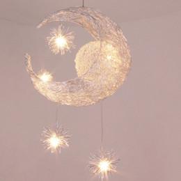 Moderno Personalizado Moon Star Chandelier Dormitorio de los Niños Lustres Colgante de la Lámpara de Techo Hogar Iluminación Decorativa Del Accesorio desde fabricantes