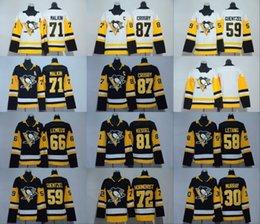 Wholesale Gold Mario - #30 Matt Murray 2018 Women Youth 71 Evgeni Malkin 87 Sidney Crosby 66 Mario Lemieux 58 Kris Letang Jake Guentzel Penguins Hockey Jerseys