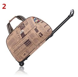 c65c7f664758 classic suitcases Canada - Waterproof Tourism Vintage Luggage Suitcase  Travel Bags Trolley Travel Bag on Wheels