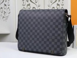 Wholesale office men leather bag - New Genuine Leather Bags Crossbody Messenger Bag Leather Office Bags for Men Document Briefcase Travel Bags