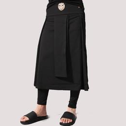 2019 calças leopardo hip hop Avant Garde Cintura Ajustável Mens Casual Saia Pant Leopardo Cabeça Decoração Do Punk Hip-hop Masculino Desfile de Moda Trajes desconto calças leopardo hip hop