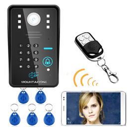 2019 zugang zu mobiltelefonen 720P Wireless WIFI RFID Passwort Video Türsprechanlage Türklingel Intercom System Nachtsicht Wasserdichte Zugangskontrollsystem rabatt zugang zu mobiltelefonen