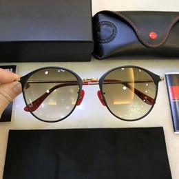 Солнцезащитные очки овальные онлайн-Роскошные дизайнерские солнцезащитные очки для мужчин высокое качество стекла поляризованные для мужской овальный металлический каркас 3602 с коробкой