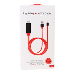 Adaptador av digital online-Lightning HDTV Cable Adaptador de AV digital para iPhone X iPad Adaptador de USB a HDMI Proyector HDTV Plug and Play