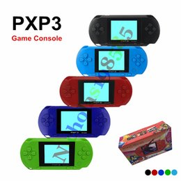 Wholesale Music Lcd - New Arrival Game Player PXP3 (16 Bit) 2.7 Inch LCD Screen Handheld Video Game Player Consoles Mini Portable Game Box Also Sale PVP PXP PAP