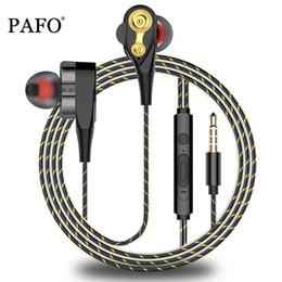PAFO Bass Auriculares Unidad doble Unidad Auriculares Subwoo Auriculares Auriculares para iphone DJ studio Auriculares Auriculares 3.5mm Mic Calidad # 2 desde fabricantes
