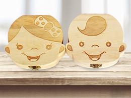 Caixa de dente para o Bebê Salvar Leite Dentes Meninos / Meninas Imagem Caixas De Armazenamento De Madeira Presente Criativo para Crianças Kit de Viagem 2 estilos TC180816-WL de