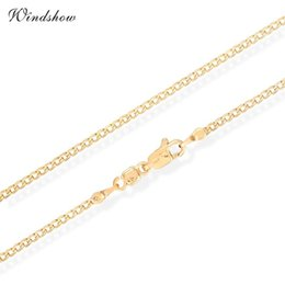 Wholesale Flat Curb Chain Wholesale - Wholesale- Children Boys Baby Kids Jewelry Yellow Gold Color Flat Curb Chain 14' Collar Short Choker Necklace Wholesale Best Birthday G