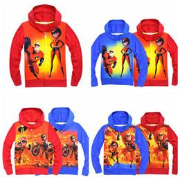 Wholesale heroes shirts - 6 color Super Hero zipper hoodie Baby boys print coats 2018 autumn Hoodies Cardigan zipper shirt Jacket Outwear kids Clothing MMA307 12pcs