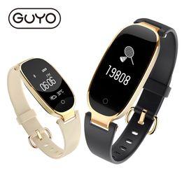 Женщины смарт-часы фитнес-трекер браслет монитор сердечного ритма смарт браслет группа подарок Леди Bluetooth для Android IOS телефон supplier smart watch ladies от Поставщики умные женские часы