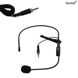 3,5 mm mikrofonverdrahtung Rabatt Bestall 3,5 mm Schraubverschluss Wired HeadWorn Kondensatormikrofon Headset Mic Für kabelloses Karaoke-System Taschensender
