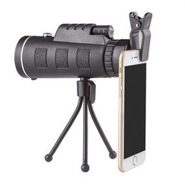 Wholesale optical zoom mobile - Universal 40X60 Optical Zoom Telescope Telephoto Mobile Phone Camera Lens For iPhone Samsung LG Android Smartphones lenses