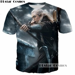 Wholesale Lord Rings Print - PLstar Cosmos Elfing Prince Legolas Greenleaf Orlando Bloom T-Shirt 3D print The Lord of the Rings tee tshirt Men t shirt tops