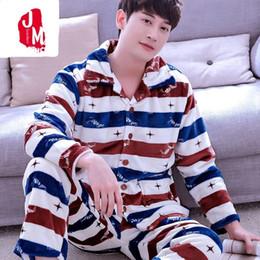 Men Pajama Sets Autumn Winter Coral Fleece Thick Men Sleepwear Suits Warm  Homewear Long Sleeve Pijama Man Sleep Pyjama XXL XXXL d8dffdf8e