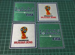 Russie 2018 Coupe du Monde Flock Patches 2018 Coupe du Monde Russie Patches de Football pour les 32 dernières équipes Allemagne Espagne Argentine Colombie Patches 2018 ? partir de fabricateur