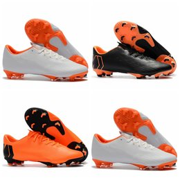 Wholesale cheap leather ankle boots women - 2018 new arrival mens kids soccer cleats Mercurial Superfly Vapor XII PRO FG low ankle boys soccer shoes leather women football boots cheap
