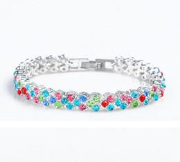 fascino braccialetto roma Sconti 5 colori full cristallo bracciali moda diamante Diana bracciali bangle polsino bracciale braccialetto romano gioielli da sposa regalo per le donne