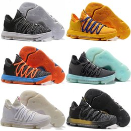 Wholesale Men Kd Shoe Cheap - Free Shipping 2018 NEW Cheap KD 10 Oreo Finals PE Still KD Sneakers Mens Basketball Shoes
