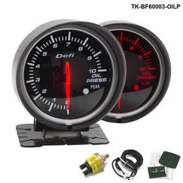 Wholesale Oil Meter - Tansky Defi OIL PRESSURE GAUGE Linker 60mm OIL PRESSURE GAUGE Oil Pressure Meter Car meter Auto Gauge Black Bracket TK-BF60003-OILP