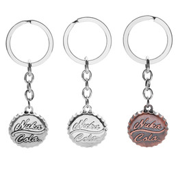 Wholesale Games Cross - 1Pcs Hot Cool Game Fallout 4 Beer Cap Shape Pendant Keychain Fashion Car Key Ring Key Holder for Fans Gift