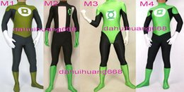 Lanterna verde costume lycra online-Unisex Superhero Lantern Body Suit Costumi New 4 Style Lycra Spandex Lanterna verde Suit Catsuit Costumi Halloween Costumi Cosplay DH157