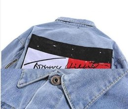 Wholesale Denim Sweat - 2018 New Fashion casual Brand women tops spring and autumn harajuku summer t shirts Sweats men women's clothing denim jacket