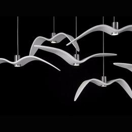 Wholesale Bird Lamps - Creative White LED Resin Brokis Night Birds silhouette sky freedom bird flight charm unprecedented dynamism Seagull pendant lamp