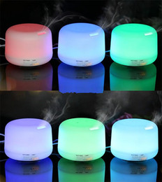 Wholesale Humidistat Controls - 300ML Ultrasonic Air Humidifier Essential Oil Aroma Diffuser Mist Maker Fogger with 7 Colors LED Night Light DHL Free
