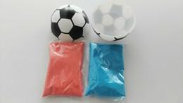 Ordem rosa bola on-line-Qualidade agradável sexo revelar explodindo bola de futebol Rosa e Azul Kit de transporte rápido aceitar pequenas encomendas
