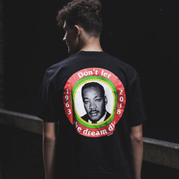 kings logo red Australia - Box Logo Dream Tee Luxury Martin Luther King Summer Breathable Cool T-shirt Casual Simple Men Women Fashion Street Short Sleeve HFYMTX268