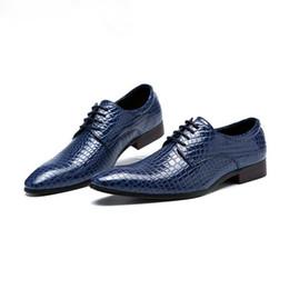 barco sapatos negócio casual Desconto Nova imitar couro de cobra homens oxford shoes lace up homens de negócios casuais apontou sapatos de marca de casamento homens dress boat