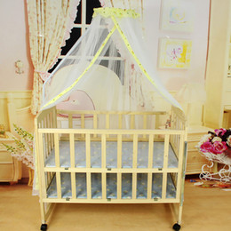 Wholesale Long Tent - mosquito net for baby crib Hanging canopy kids room decoration baby kids cot ceiling crib long dome mosquito nets play tent bed