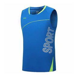 2019 тренажерный зал фитнес-майка Quick Dry Running Vest Training Sleeveless Workout Tank Top Fitness Tights Men Sport Suit Gym Man's T-Shirt скидка тренажерный зал фитнес-майка