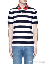 Wholesale hand embroidered shirts - Italian fashion polo shirt new 2018 chun xia men polo tee 3 xl leisure shirt embroidered polo T-shirt