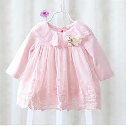 robes de baptême européenne bébé fille Promotion nouvelle robe de fille de style européen bébé robe bébé filles vêtements coton bébé fille robes de baptême rose