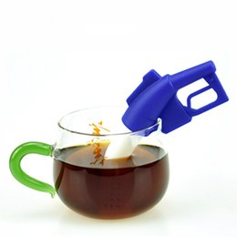 Wholesale Guns Coffee - New Creative Silicone Teabag GUN Style Silicone Infuser Tea Leaf Strainer Loose Herbal Spice Filter Diffuser Coffee Tea Tools