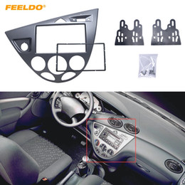 Assetto fiesta online-Feeldo Grey Car Stereo 2DIN pannello della fascia Radio Refitting Dash trim Kit per Ford Focus 98 ~ 04 (LHD) / Fiesta 95 ~ 01 (LHD) # 5054