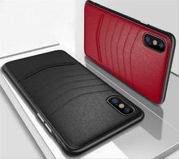iphone è caduto Sconti Per iPhone X 8 7 6 Plus Custodia protettiva per telefono cellulare anti caduta d'affari in pelle con buona qualità