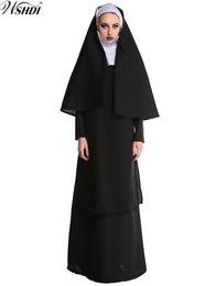 vestiti religiosi Sconti Di alta qualità New Adult Halloween Costumi del partito delle donne sexy suora sorella vestiti abiti Cosplay Costume cattolico religioso C18111601