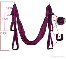 Amache colorate antigravitazionali Air Flying Yoga Hammock Alta densità Piccolo Taffeta Fitness Swing Easy Carry 75 5sh BB da