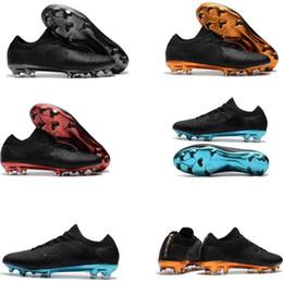 Nuevas botas de fútbol para hombre con bajo tobillo CR7 Mercurial Vapor XI  FG SX Neymar Superfly V zapatillas de fútbol Vapor Ultra Soccer Cleats 106f252f3f2ca