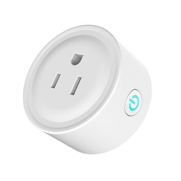 intelligent switch Promo Codes - Mini Smart Socket WiFi Smart Home Plug Intelligent Outlet Timing Switch works with Alexa Google Home Wireless Remote Control Socket