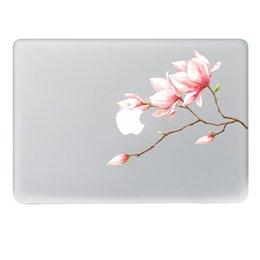 Wholesale Macbook Pro Vinyl - free shipping 2018 new hot sales Pink bud flower Vinyl Decal Notebook sticker on Laptop Sticker For Macbook Pro 11 13 15 inch Laptop Skin