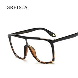 2019 designer óculos quadros para homens GRFISIA Sexy Ladies Oversized Quadrado Armações de Óculos Das Mulheres Dos Homens Designer Optical EyeGlasses Moda Eyewear Óculos de Computador G242 designer óculos quadros para homens barato