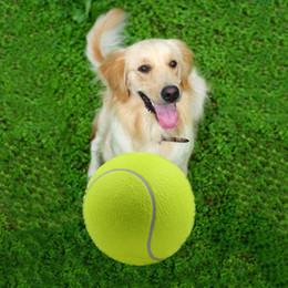 Гигантские шарики онлайн-Горячая продажа 9,5-дюймовый большой надувной теннисный мяч Giant Pet игрушки Интерактивная Chew Pet Собаки игрушки