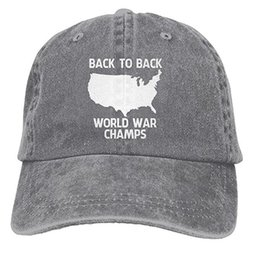 fbe6639c90e Back-To-Back World War Champs Snapback Cotton Hat Multi-color optional