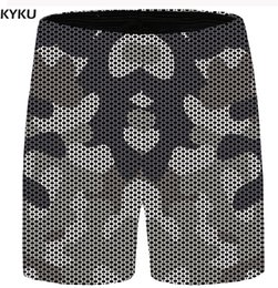 calças vintage mens vintage Desconto KYKU Camo Shorts Homens Havaí Praia  Shorts Ocasional Do Vintage Buraco 0065b82365666