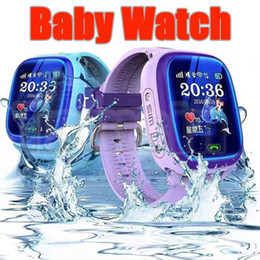Wholesale Used Home Safe - DF25G Smart Watch Children Waterproof Swim GPS Watch SOS Call Location Device Tracker Kids Safe Anti Lost Reminder